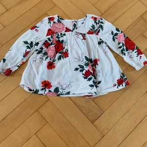 Cream floral top